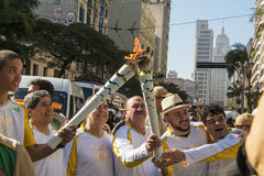 Олимпийское реле факела - Рио 2016 - São Paulo/SP Стоковые Изображения