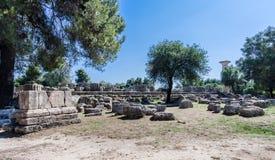 Олимпия Греция виска Зевса стоковая фотография