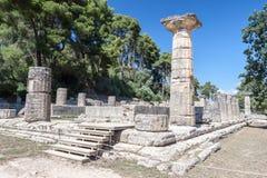 Олимпия Греция виска Hera стоковая фотография rf