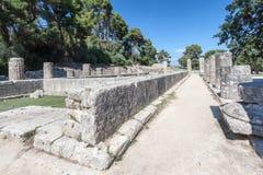Олимпия Греция виска Hera стоковые фотографии rf
