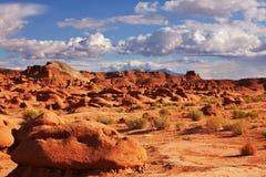 долина американской скульптуры красного песчаника прерий начала goblin естественной невероятная стоковое изображение rf