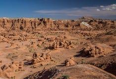 долина американской скульптуры красного песчаника прерий начала goblin естественной невероятная Стоковое Изображение