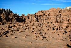 долина американской скульптуры красного песчаника прерий начала goblin естественной невероятная Стоковая Фотография RF