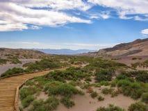 долина национального парка ландшафта смерти Стоковые Фотографии RF