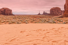долина памятника ландшафта сценарная Стоковое Изображение RF