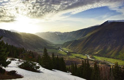 долина солнца Стоковое фото RF