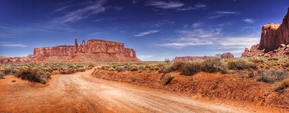 долина США дороги памятника Аризоны Стоковое Фото