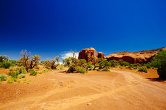 долина США парка navajo памятника Аризоны соплеменная Стоковая Фотография