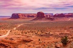 долина США Юты парка navajo нации памятника ландшафта Аризоны соплеменная Стоковая Фотография