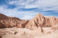 долина луны пустыни Чили atacama Стоковое фото RF