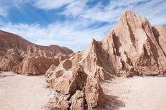 долина луны пустыни Чили atacama Стоковая Фотография RF