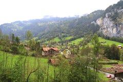 долина Швейцарии Стоковая Фотография RF