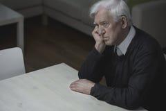 Одиночество в старости стоковое изображение rf