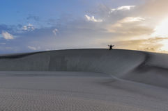 Одиночество в Lencois Maranheses, Бразилии Стоковые Изображения RF
