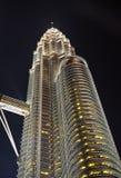 Одиночная башня Куала-Лумпур Petronas Стоковое Изображение RF