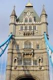 Одиночная башня моста башни Стоковые Фото
