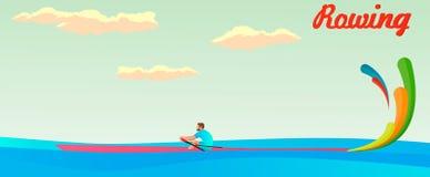 Одиночная игра лета rowing Стоковые Фотографии RF