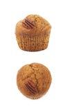 Одиночная изолированная булочка гайки пекана Стоковое Изображение