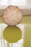 Одиночная сосна увидела стойки отрезка около окна на лоснистой зеленой поверхности a Стоковая Фотография RF