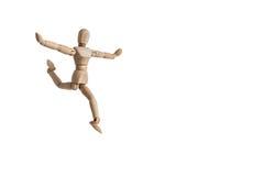 Одиночная стойка человека куклы самостоятельно в одиночестве Стоковые Фотографии RF