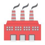 Одиночная фабрика строя плоский дизайн Стоковые Фото