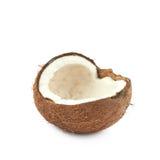 Одиночная часть изолированного кокоса Стоковые Изображения RF