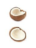 Одиночная часть изолированного кокоса Стоковое Фото
