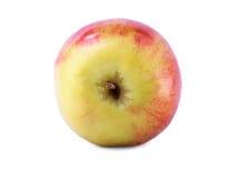 Одиночное яблоко изолированное на белой предпосылке Вкусное и хрустящее яблоко Пестротканое целительное яблоко Сладостные плодоов Стоковое Изображение RF