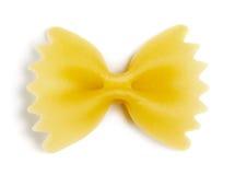 Одиночные макаронные изделия бабочки Стоковые Фото