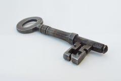 Одиночный античный ключ двери Стоковое фото RF