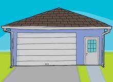 Одиночный закрытый гараж двери иллюстрация вектора