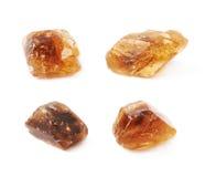 Одиночный изолированный кристалл сахара утеса Стоковое фото RF