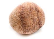 Одиночный камень изолированный на белой предпосылке Стоковая Фотография RF