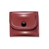 Одиночный кожаный бумажник Бесплатная Иллюстрация