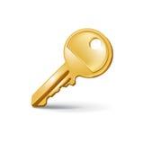 Одиночный ключ изолированный на белизне Иллюстрация штока