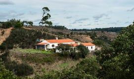Одиночный дом в Alentejo Стоковое Фото
