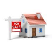 Одиночный дом для продажи бесплатная иллюстрация