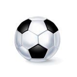 Одиночный футбол изолированный на белизне Бесплатная Иллюстрация