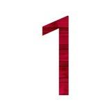 1 один алфавит Стоковые Изображения
