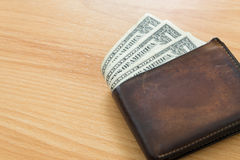 Один бумажник долларовой банкноты Стоковое Фото