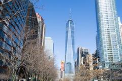 Один всемирный торговый центр в финансовом районе NYC Стоковое Фото