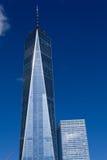 Один всемирный торговый центр в финансовом районе NYC Стоковые Изображения