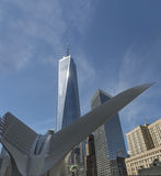 Один всемирный торговый центр, Нью-Йорк, США, башня свободы Стоковые Изображения RF
