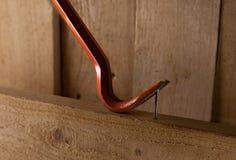 Один железные ноготь и пулер ногтя стоковые фотографии rf