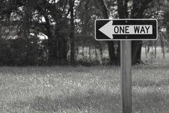 Один знак улицы пути Стоковые Фотографии RF