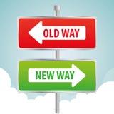 Один дизайн рекламы дорожного знака пути, Стоковые Изображения RF