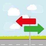Один дизайн рекламы дорожного знака пути, Стоковые Изображения