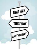 Один дизайн рекламы дорожного знака пути, Стоковое Фото