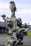 Один из купать 9 драконами Стоковое Изображение