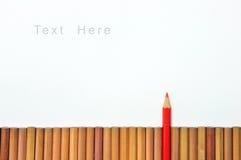 Один карандаш красного цвета Стоковая Фотография RF